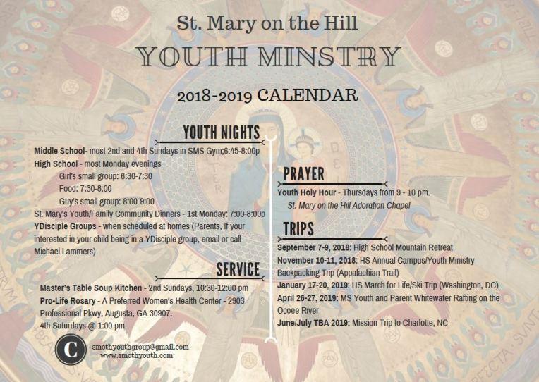 18-19 calendar